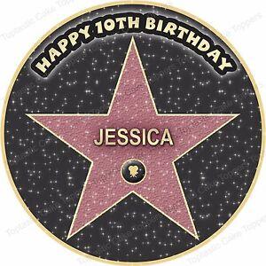 Brilliant Personalised Hollywood Film Star Cinema Party Edible Icing Funny Birthday Cards Online Elaedamsfinfo