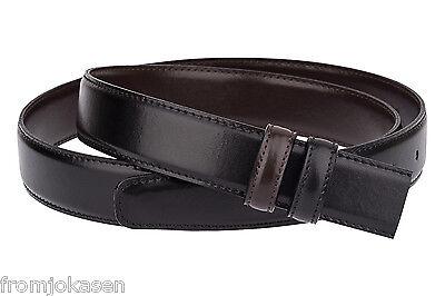 "Men/'s reversible belt Black Brown For Men Genuine Smooth leather Two side Sz 38/"""