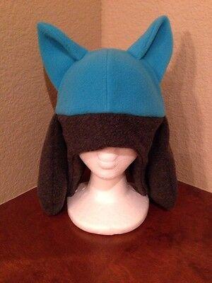 Pokemon Riolu Lucario Fleece Hat Cosplay  Blue Cap Costume