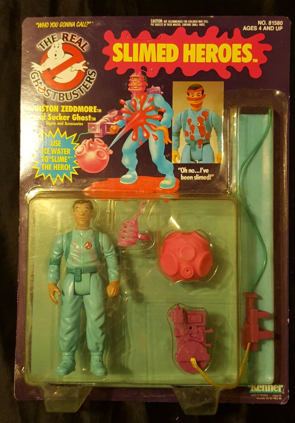 The Real Ghostbusters, Slimed Heroes   Winston Zeddmore  Figure (Kenner, 1984)