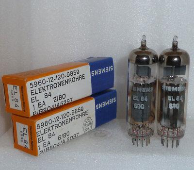 4 NOS NIB tubes EL84 6BQ5  Siemens Tungsram  matched quad NATO Stock