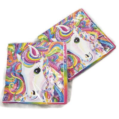 Surprising Lisa Frank Rainbow Pony Party Napkins 32 Ct Birthday Cake Beverage Funny Birthday Cards Online Alyptdamsfinfo