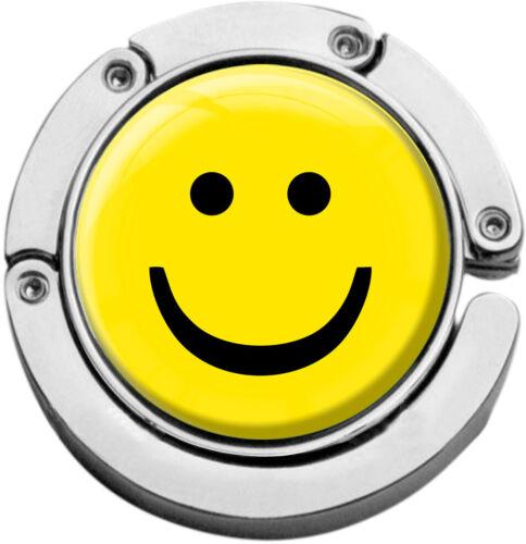 """metALUm Taschenaufhänger in runder Form /""""Smiley/"""""""
