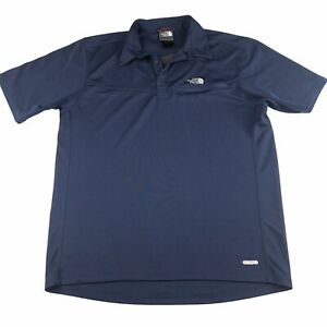 The-North-Face-Mens-Polo-Vapor-Wick-Navy-Blue-Shirt-Size-M-Short-Sleeve-Collared