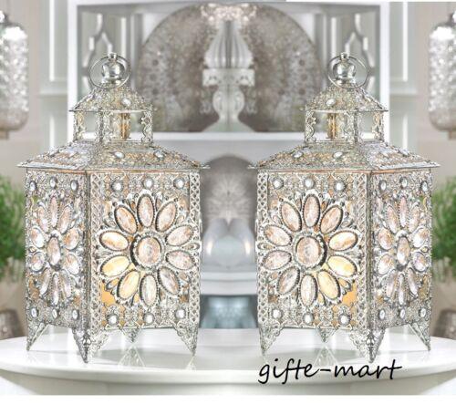 5 silver crystal cluster flower Lantern Candle holder floral wedding decoration