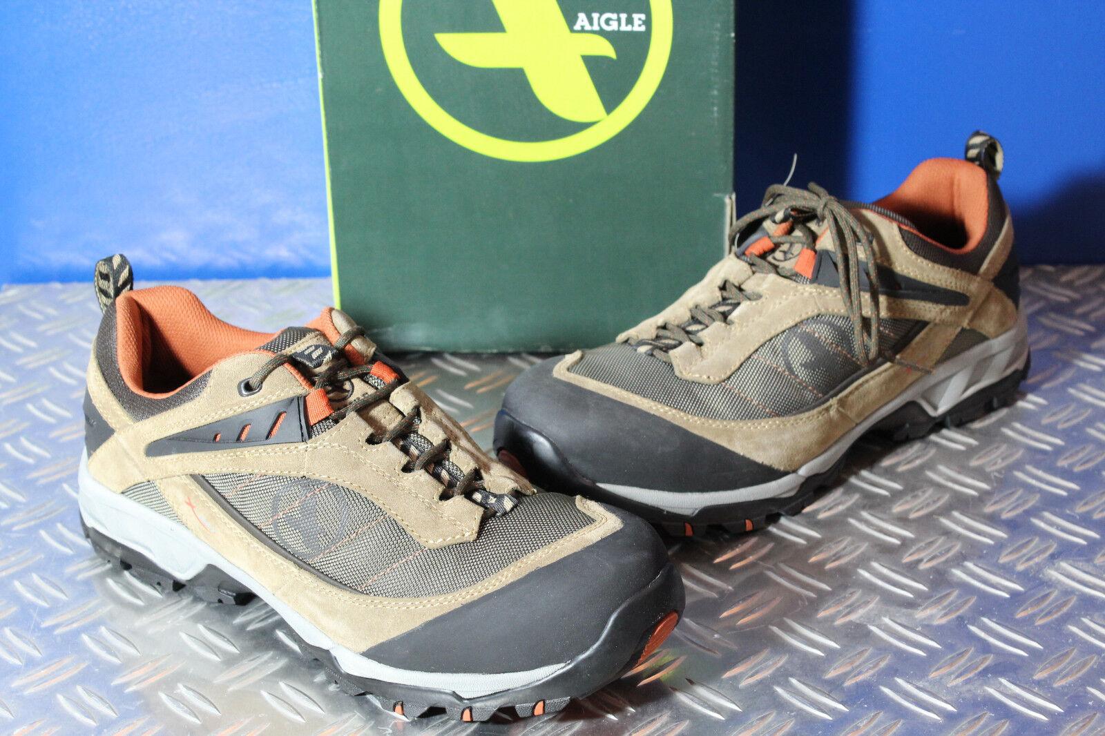 AIGLE Wildleder Outdoor Wanderschuhe Trekking Schuhe Stiefel Wildleder AIGLE Textil terra braun 45 b41ca2