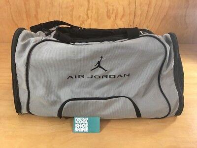 Nike Air Jordan Jumpman Logo Gym Duffle Bag w Shoe Compartment Gray Black AJ 23