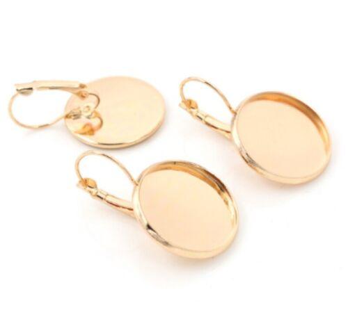 10pcs 20mm French Lever Back Earrings Base Setting Cabochons Earring Blank Trays