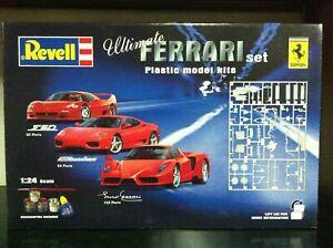 Revell-Kit-di-Montaggio-1-24-FERRARI-SET-F50-360-Modena-Enzo-Ferrari-MIB-2005