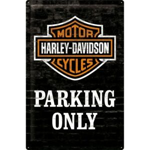 Blechschild-Harley-Davidson-Parking-Nostalgie-Schild-60-cm-NEU-Metal-shield