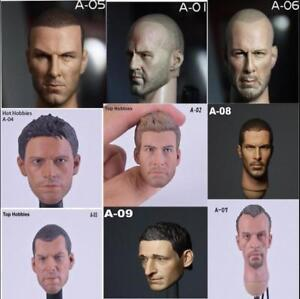 "1//6 Scale Head Sculpt Male Headplay Carving Hot Toys For 12/"" Action Figure Body"