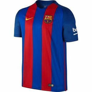 Nike FC Barcelona Season 2016 - 2017 Home Soccer Jersey Red Royal ... 121371a093e