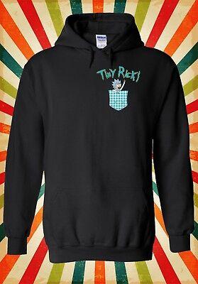 Tiny Rick and Morty Pocket Funny Men Women Unisex Top Hoodie Sweatshirt 1916