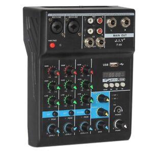 Mixer-Bluetooth-Professionale-A-4-Canali-Mixaggio-Audio-Console-DJ-con-Effe-I1R1