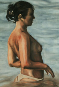 1-Limited-edition-Signed-Print-from-Original-oil-painting-figure-female-beach