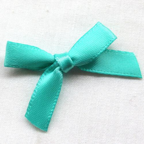 Upick 10PCS Satin Ribbon Flowers Bows Appliques Wedding Deco Mix A469