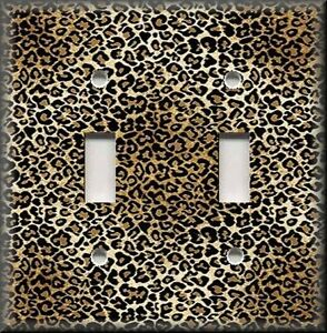 Image Is Loading Light Switch Plate Cover Animal Print Decor Leopard
