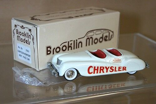 BROOKLIN models 8A 1941 CHRYSLER NEWPORT INDY PACE CAR mint boxed mq