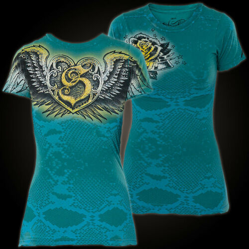 shirts By T shirt Sinful Neon Affliction Türkis Baby T 6wqSvfSCx