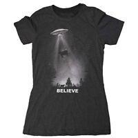 Women's Ufo T-shirt - I Want To Believe Shirt