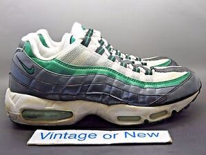Men's Gray Air Max 95 New Green