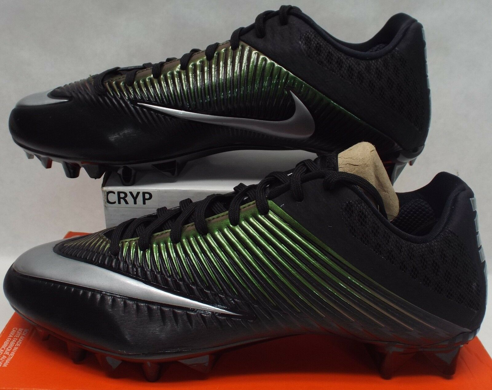 New Mens 13 NIKE Vapor Speed 2 II Low Black Cleats Shoes 105 833380-001