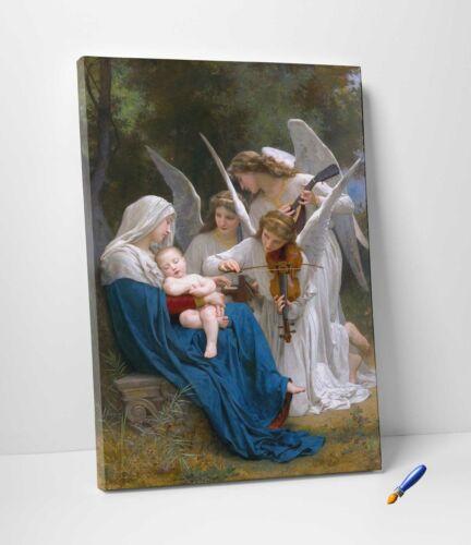 William Bouguereau IL Canto degli Angeli Stampa su Tela Vernice Pennellate