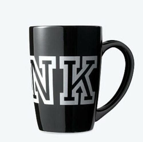 Victoria secret pink coffee cup NEW black logo