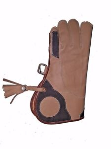 Falconry-Glove-Double-Skin-Nubuck-Leather-12-034-2-Layer-Fancy-Design-L-Brown-22