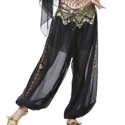 C91108 Danza Del Ventre Costume Pantaloni Larghezza Gamba Pantaloni Carnevale Belly Dance-
