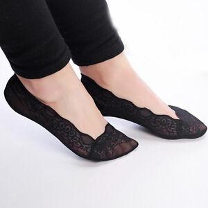 1-Pair-Women-Lady-Cotton-Lace-Antiskid-Invisible-Liner-No-Show-Low-Cut-Socks