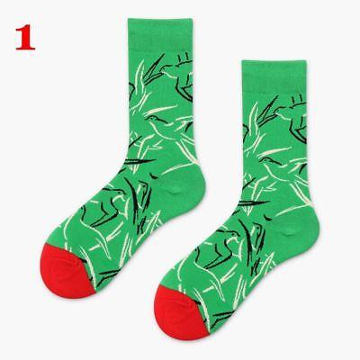 Art Painting Socks Novelty Men Women Cartoon Harajuku Cotton Funny Art Sock Gift