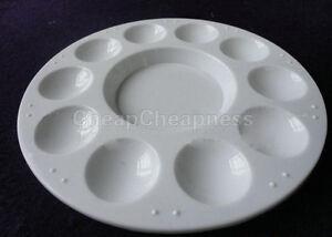 Utility-White-Plastic-10-well-Round-Paint-Palettes-Artist-Pallette-Hot-Sale-O1C