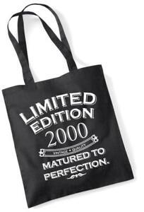17. Geburtstagsgeschenk Tragetasche Einkaufstasche Limitierte Edition 2000