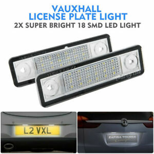 2Pcs-LED-License-Number-Plate-Light-Fit-Vauxhall-Corsa-C-D-Astra-H-Insignia-UK