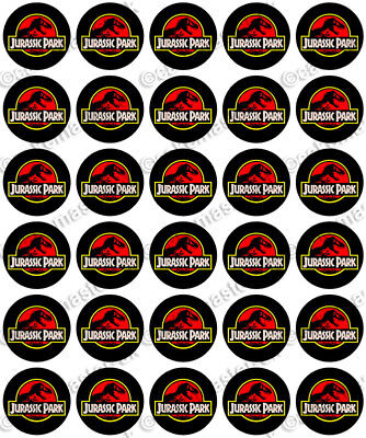 30 x DINOSAURS CLIPART Party Edible Wafer Paper Cupcake Toppers *PRECUT*