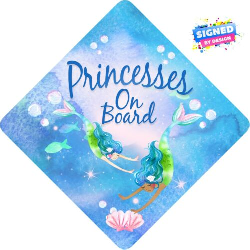 Nymphomanes Mermaids on Board Non Personalised Child//Baby On Board Car Sign ~ NEW