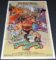 Smokey & The Bandit 3 1983 Original Movie Poster Jackie Gleason Comedy Action