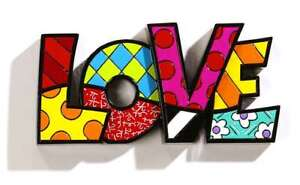 Image Is Loading Romero Britto Love Word Art Wall Or Tabletop
