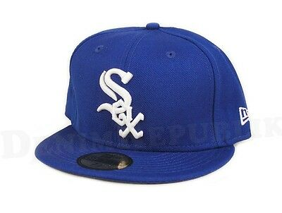 New Era 5950 CHICAGO WHITE SOX Royal Blue & White Cap MLB Fitted Baseball Hat