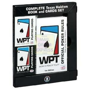 WORLD-POKER-TOUR-COMPLETE-TEXAS-HOLD-039-EM-BOOK-AND-CARDS-SET-NEW-IN-BOX