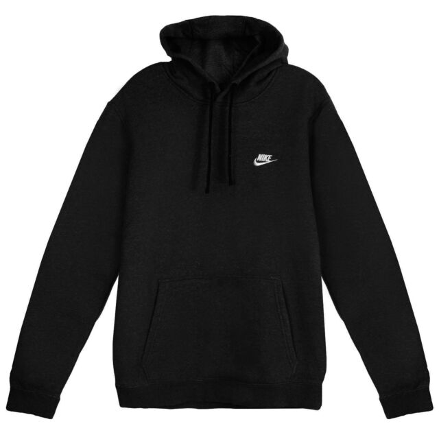 Nike Mens Sportswear Pull Over Club Hooded Sweatshirt Nk804346 010 Large