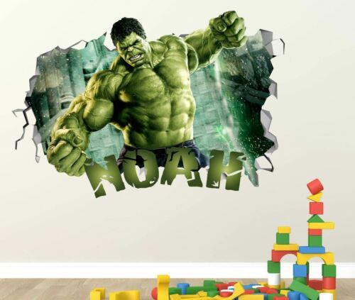 Hulk Custom Vinyl Stickers 3D Wall Decals Name Art Door Window ST266