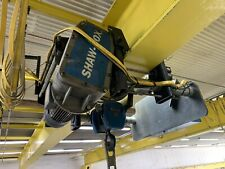Shaw Box 10 Ton Hoist 35 Foot I Beam No End Trucks Included Overhead Crane