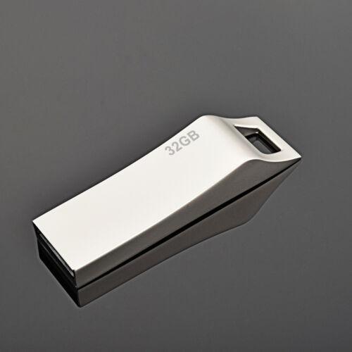 High Quality Metal 32GB USB 2.0 Flash Drive Thumb Pen Drive Memory Stick Storage