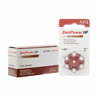 Zenipower Hearing Aids Aid Batteries Size 312 (pr41) + Free Battery Keychain