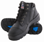 Steel-Blue-Parkes-Zip-Black-Leather-Lace-Up-Bump-Cap-Safety-Boot-312658-NEW