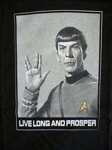 LIVE LONG AND PROSPER Spock star trek nimoy T Shirt all sizes