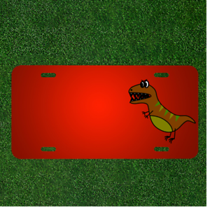 Front License Plate 6 X 12 Aluminum License Plate Dinosaur Customized USA Car Tag Wall Decoration License Plate Personalized