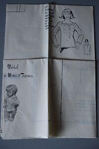 034-MODES-amp-TRAVAUX-034-PATRON-NOV-1976-PATRON-POUPEE-J-MICHEL-MARIE-FRANCOISE-A10